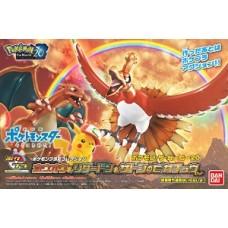 Pokemon Plastic Model Collection Ho-oh & Charizard & Ash Ketchum`s Pikachu
