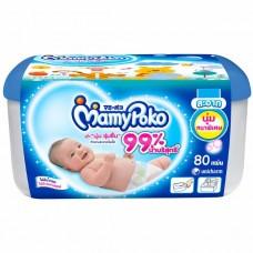 มามี่โพโค Mamy Poko เบบี้ไวพ์ นุ่มหนาพิเศษ กล่อง 80 แผ่น