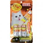 CIAO Stick Tuna ขนมครีมแมวเลีย รูปแบบแท่ง รสเนื้อสันในไก่ในเยลลี่ 15 กรัม x 4 ซอง