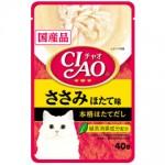 CIAO เชา ชนิดเปียก เนื้อสันในไก่รสหอยเชลล์ 40 กรัม