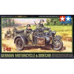 32578 1/48 German Bike & Sidecar