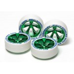 TA 95075 Fully Cowled Mini 4WD 20th Anniversary White Tire & Green Plating Wheel