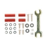 TA 95321 Aluminum Hex Mount Set (Red 10,15mm)