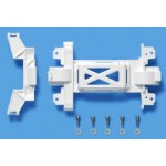 TA 95325 Reinforced Gear Cover (for MS Chassis) White Mini 4WD Station
