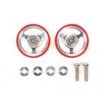 95347 17MM ALUMINUM ROLLER W/PLASTIC RINGS (RED)