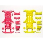95356 VS Fluorescent-color Chassis Set (Pink/yellow)