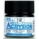 MR.ACRYSION COLOR N-12 FLAT BLACK