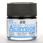 MR.ACRYSION COLOR N-28 METAL BLACK