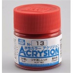 MR.ACRYSION COLOR N-13 FLAT RED