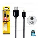 REMAX Cable Micro (1M, สายกลมถัก) - สายชาร์จ REMAX (Super Cable)