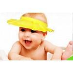 หมวกกันแชมพู ซิลิโคนฟรีไซส์ สีเหลือง