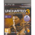 PS3: Uncharted 3 Drake's Deception Game Of The Year (Z2)