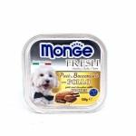 Monge Fresh ชนิดเปียก สำหรับสุนัข สูตรไก่ 100 กรัม
