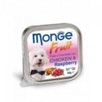 Monge Fruit ชนิดเปียก สำหรับสุนัข สูตรเนื้อเป็ดและราสเบอรี่ 100 กรัม