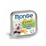 Monge Fruit ชนิดเปียก สำหรับสุนัข สูตรปลาแซลม่อนและลูกแพร์ 100 กรัม