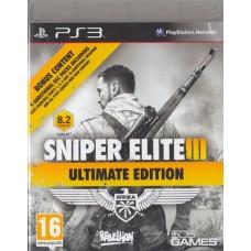 PS3: SNIPER ELITE 3 ULTIMATE EDITION (Z2)