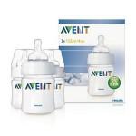 เอเวนท์ Avent ขวดนมพร้อมจุกนมปลอดสารBPA ขนาด 125 ml.4 oz. แพ็ค 3