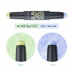 Etude Play 101 Stick Color Contour Duo 1.7gx2 #2 Mint & Blue
