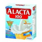 อะแล็คต้า100 3พลัส ชนิดจืด  กล่อง 550 กรัม สำหรับเด็กและทุกคนในครอบครัว
