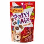 Friskies Party Mix ขนมแมว สูตรมิกซ์กริลล์ รสไก่ เนื้อ และแซลมอน 60 กรัม