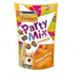 Friskies Party Mix ขนมแมว สูตรชีสซี่เครซ รสเชดด้าร์ กัวร์ด้าร์ และอีแดมชีส 60 กรัม