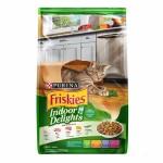 Friskies Indoor Delights ชนิดเม็ด สำหรับแมวโต สูตรควบคุมก้อนขน รสปลาแซลมอนและผัก 2.8 kg