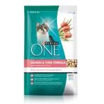 Purina ONE ชนิดเม็ด สำหรับแมวโต สูตรปลาแซลมอนและปลาทูน่า 1.4 kg