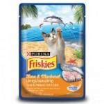 Friskies ชนิดเปียก สำหรับแมวโต รสปลาทูน่า & ปลาทู 80 กรัม