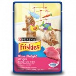 Friskies Kitten ชนิดเปียก สำหรับลูกแมว รสปลาทูน่า 80 กรัม