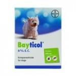 Bayticol ไบติคอล 6% อี.ซี. ควบคุมและกำจัดเห็บ หมัด 100 cc.