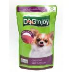 ด็อก เอ็นจอย Dog 'n Joy อาหารเปียกสำหรับสุนัข รสเนื้อวัว 120 กรัม