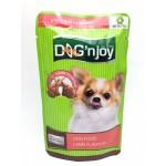 ด็อก เอ็นจอย Dog 'n Joy อาหารเปียกสำหรับสุนัข รสเนื้อแกะ 120 กรัม