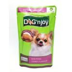 ด็อก เอ็นจอย Dog 'n Joy อาหารเปียกสำหรับสุนัข รสไก่งวง 120 กรัม