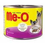Me-O Seafood ชนิดเปียก สำหรับแมว รสซีฟู้ด 185 กรัม