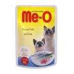 Me-O Ocean Fish ชนิดเปียก สำหรับแมว รสปลาทะเล 80 กรัม