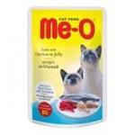 Me-O Tuna with Chicken in jelly ชนิดเปียก สำหรับแมว รสปลาทูน่าและไก่ในเยลลี่ 80 กรัม