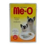 Me-O Mackerel in Jelly ชนิดเปียก สำหรับแมว รสปลาทูในเยลลี่ 80 กรัม
