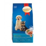 SmartHeart ชนิดเม็ด สำหรับลูกสุนัข รสไก่ ไข่และนม 3 kg