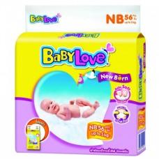 เบบี้เลิฟ Baby Love Easy Tape ไซส์ New Born ห่อ 56 ชิ้น