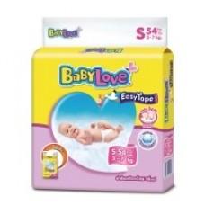 เบบี้เลิฟ Baby Love Easy Tape ไซส์ S ห่อ 54 ชิ้น