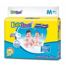 เบบี้เลิฟ Baby Love Easy Tape ไซส์ M ห่อ 84 ชิ้น