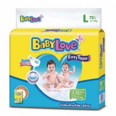 เบบี้เลิฟ Baby Love Easy Tape ไซส์ L ห่อ 72 ชิ้น