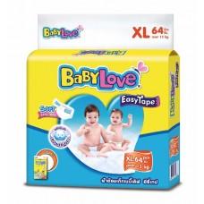 เบบี้เลิฟ Baby Love Easy Tape ไซส์ XL ห่อ 64 ชิ้น