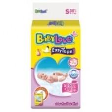 เบบี้เลิฟ Baby Love Easy Tape ไซส์ S ห่อ 30 ชิ้น