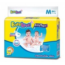 เบบี้เลิฟ Baby Love Easy Tape ไซส์ M ห่อ 24 ชิ้น