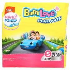 เบบี้เลิฟ Baby Love Play Pants ไซส์ S ห่อ 74 ชิ้น