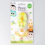 เพียวรีน Pureen Pacifier & Clip Skittle จุกหลอกพร้อมคลิป สำหรับเด็กอายุ 6 เดือนขึ้นไป ลายยีราฟ