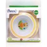 เพียวรีน Pureen Skittle ชุดจานชามสำหรับเด็ก สีเหลือง ลายยีราฟ