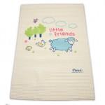 เพียวรีน Pureen แผ่นยางธรรมชาติรองนอนอัดลม ลาย Friend Sheep ขนาด 45x60 cm.