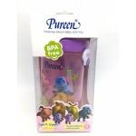 เพียวรีน Pureen ถ้วยซิปเปอร์พร้อมสายคล้อง 12 oz. ลายก้านกล้วย สีชมพู